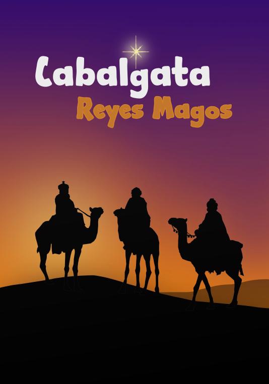 Cartel Genérico cabalgata Reyes Magos
