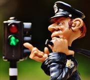Imagen caricatura agente de policía