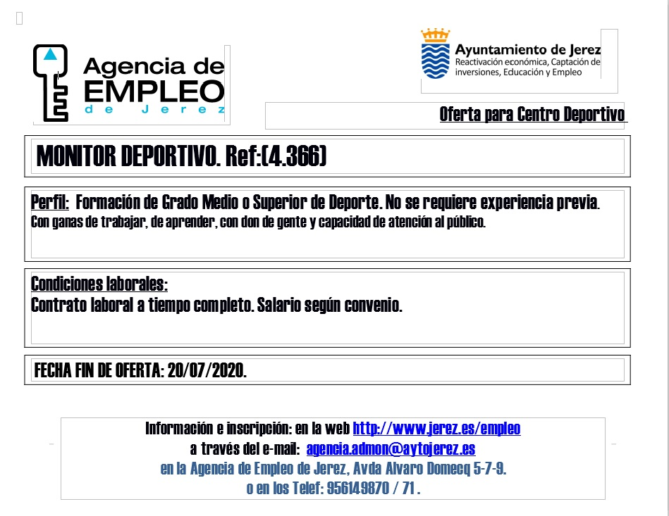 Oferta Agencia de Empleo