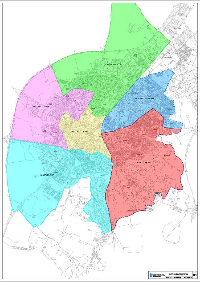 Mapa distribución de Distritos