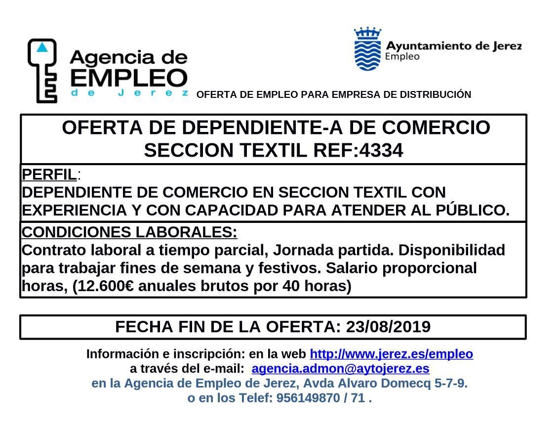 dependientes sector textil