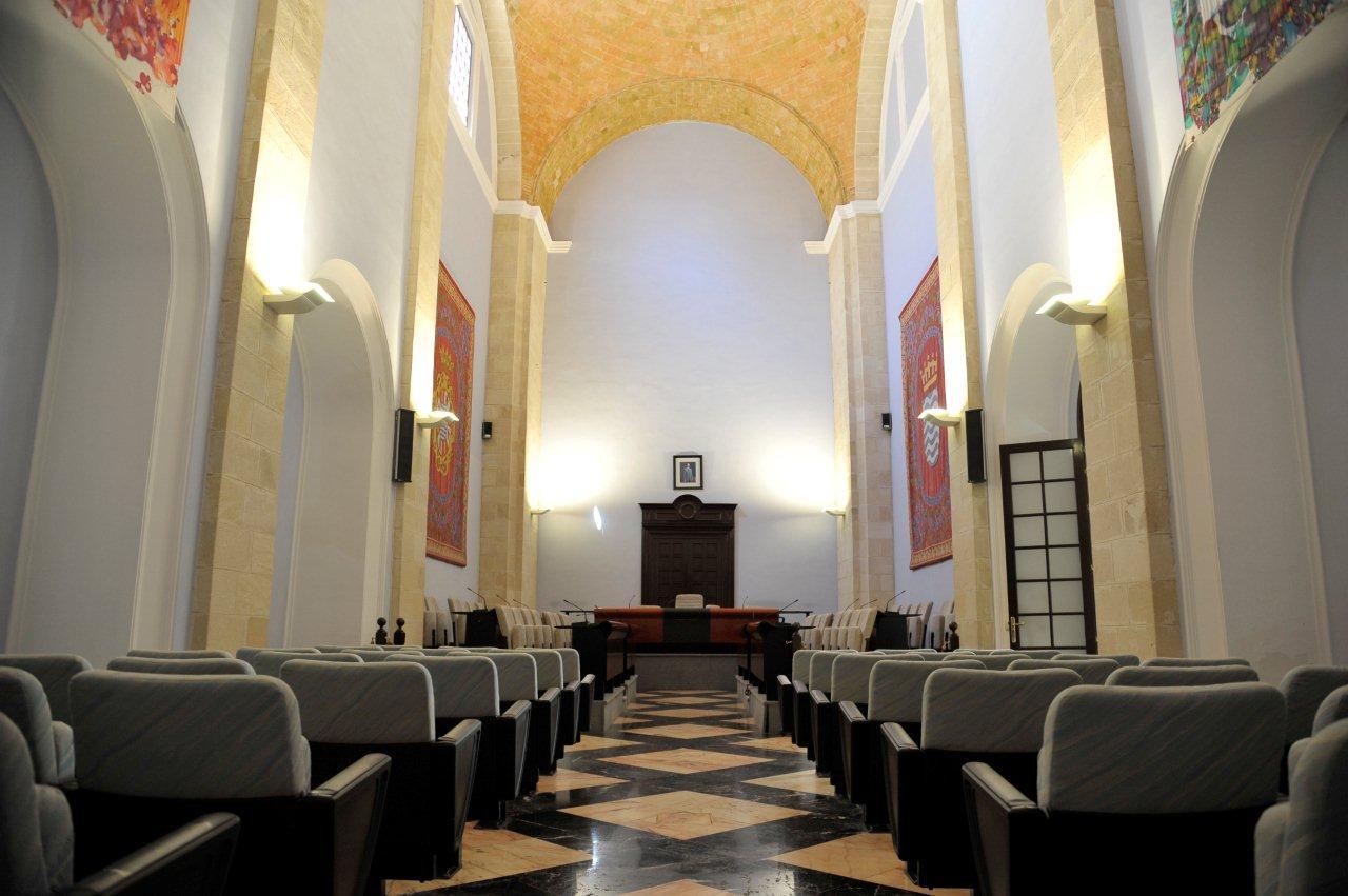 Imagen del salón de plenos del Ayuntamiento de Jerez