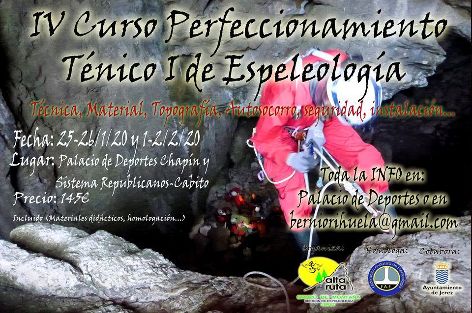 Curso perfeccionamiento Espeología