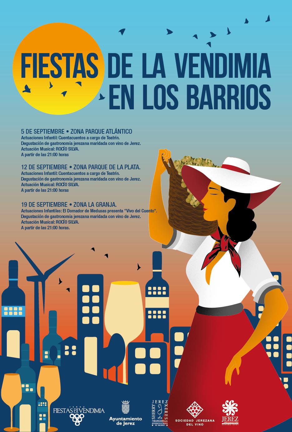 Fiestas de la Vendimia en los barrios de Jerez