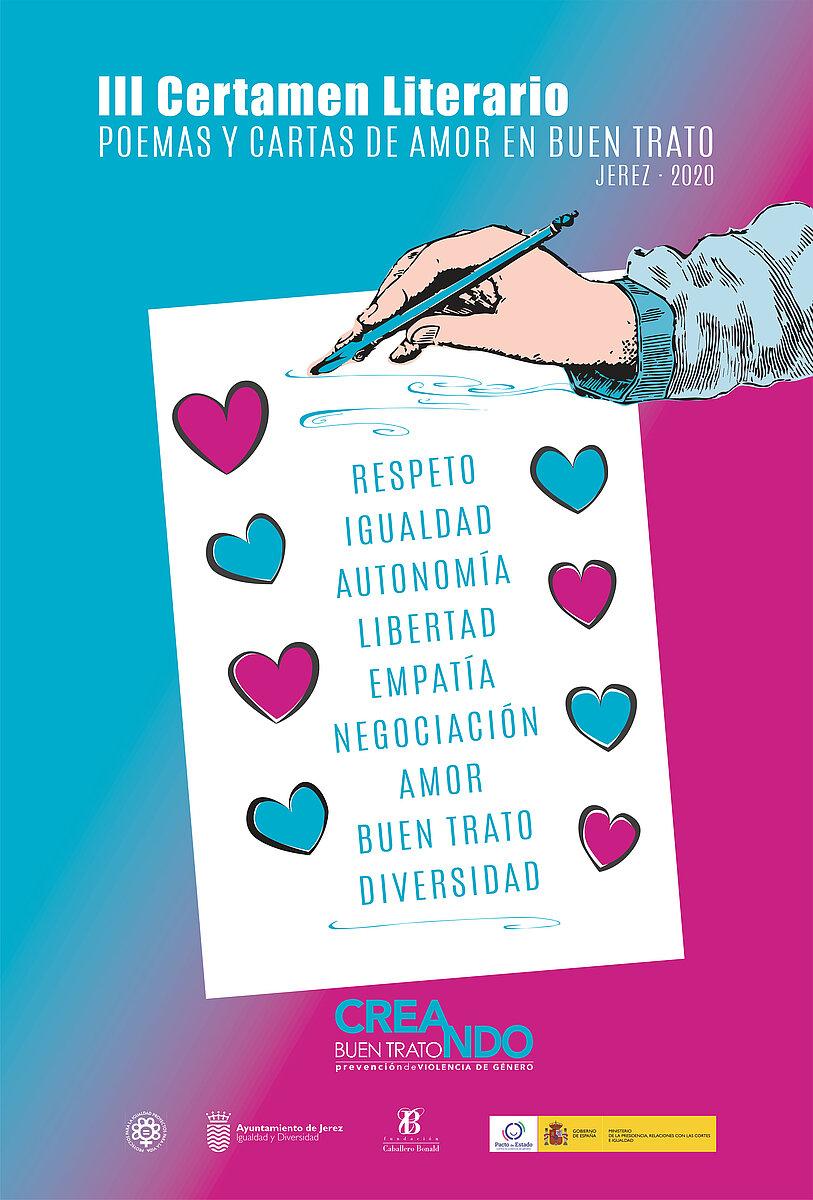 Cartel III Certamen de Poemas y Cartas de amor en Buen Trato