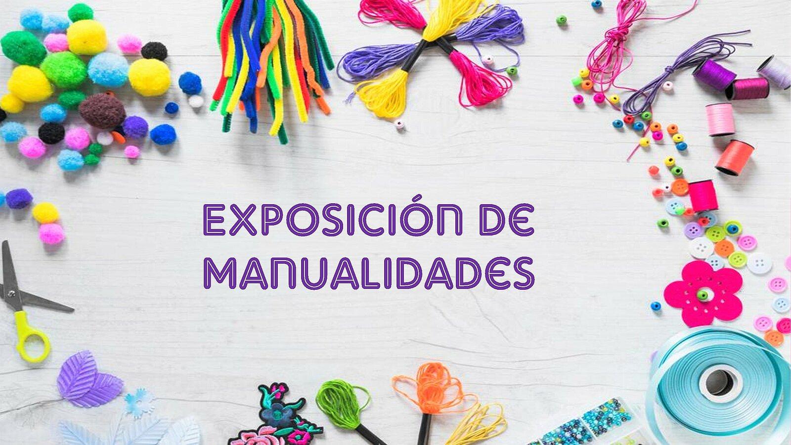 Cartel exposición de manualidades AA.MM.
