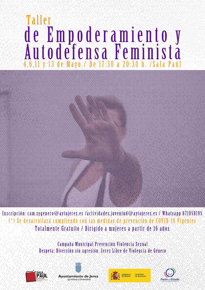 Cartel Taller de Empoderamiento y Autodefensa Feminsita