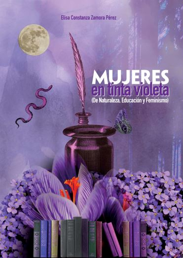 """Portada libro """"Mujeres en Tinta Violeta"""" de Elisa Constanza Zamora"""