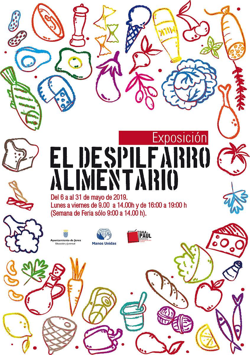 """Cartel de la exposición """"El despilfarro alimentario 2019"""""""