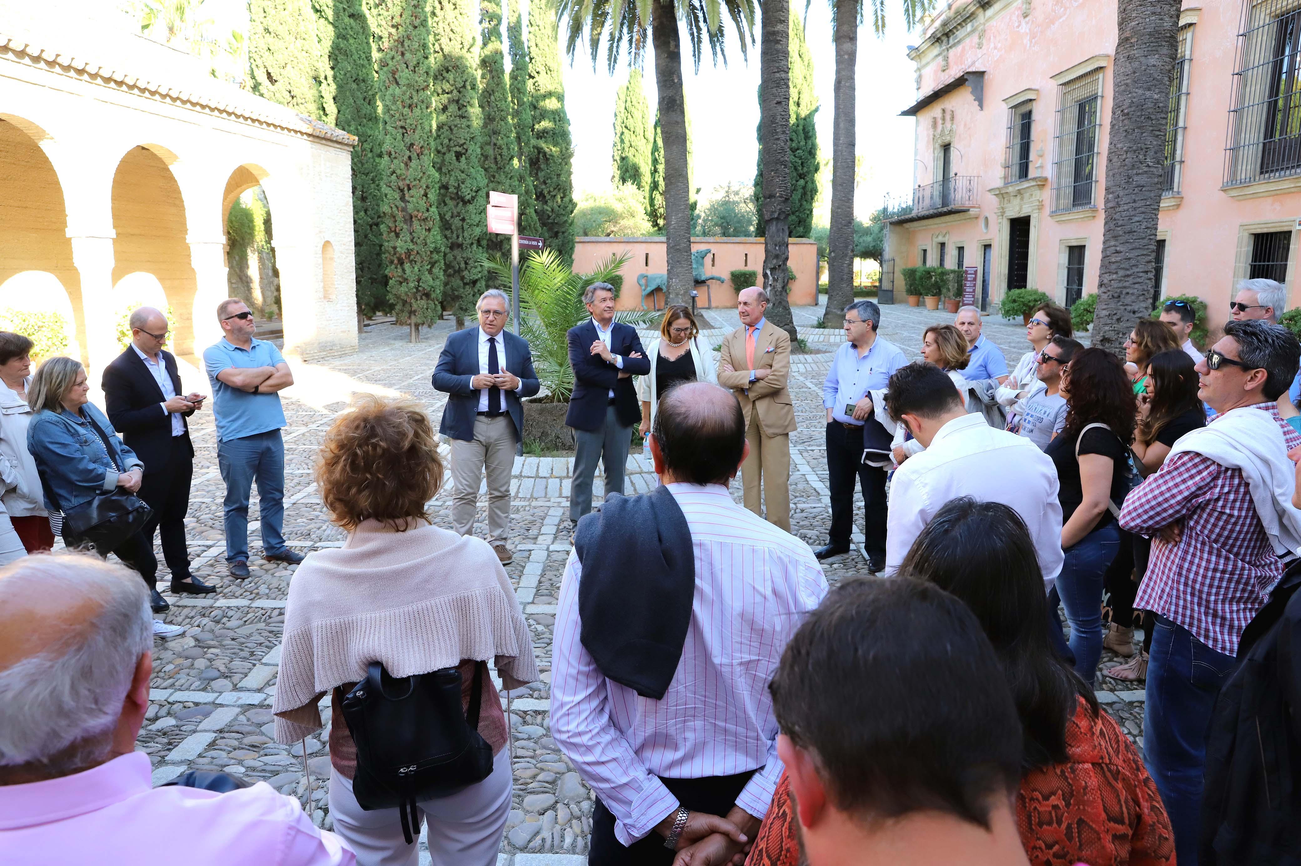 Francisco Camas durante la recepción
