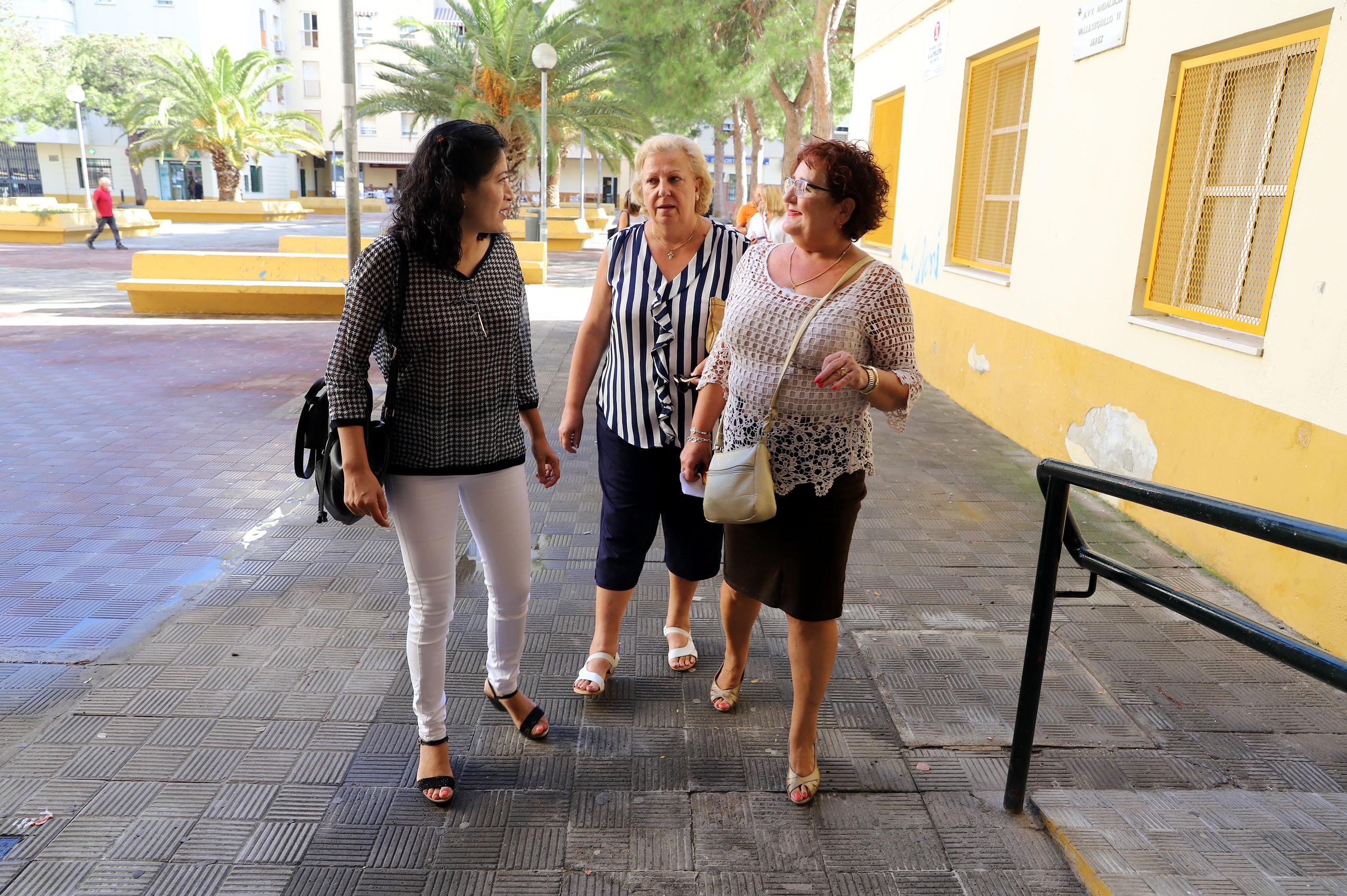 Ana Hérica Ramos en la visita