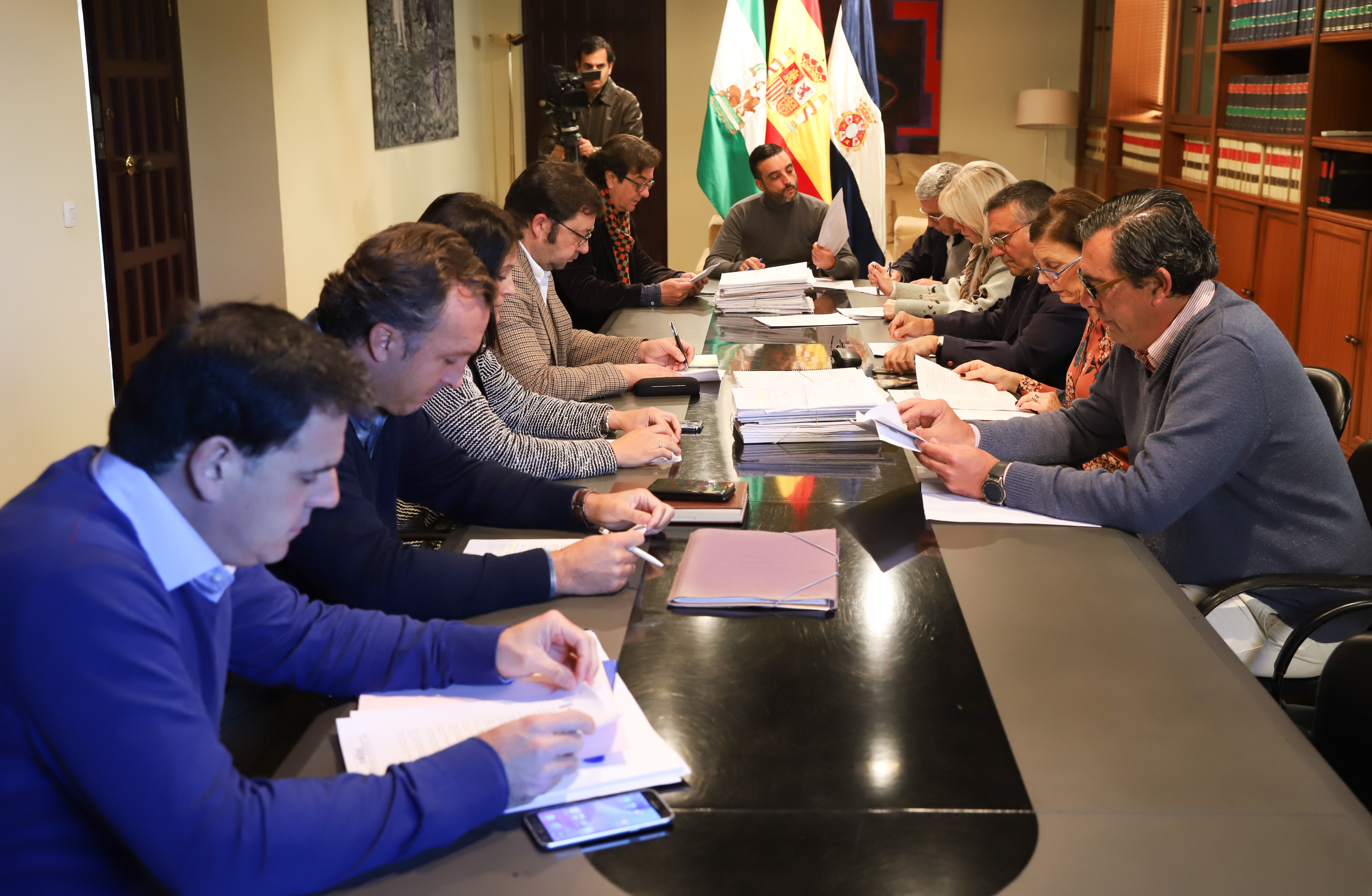 El delegado durante la reunión