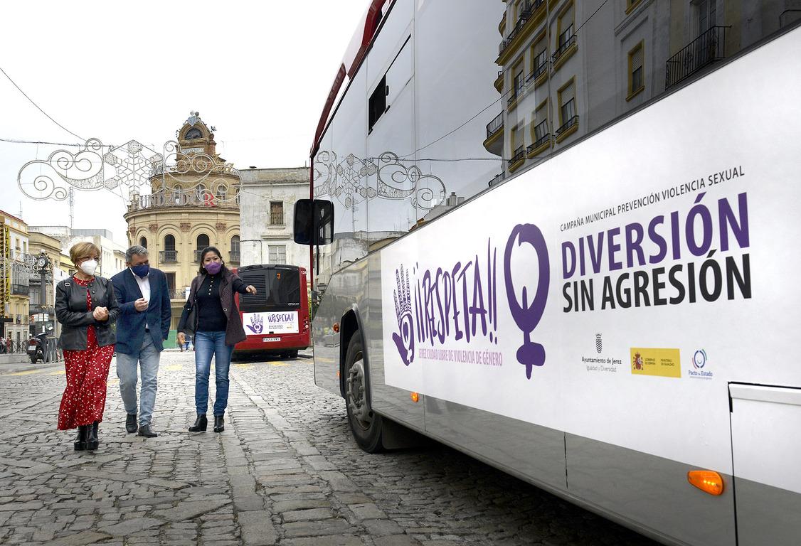 Campaña no violencia en autobuses urbanos