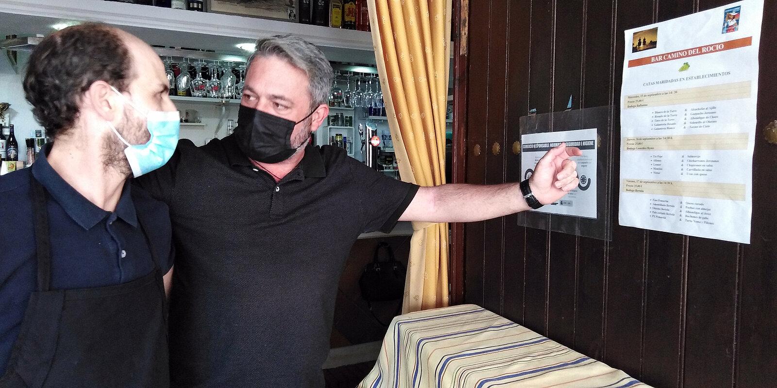 Rubén Pérez visita Bar Camino del Rocío