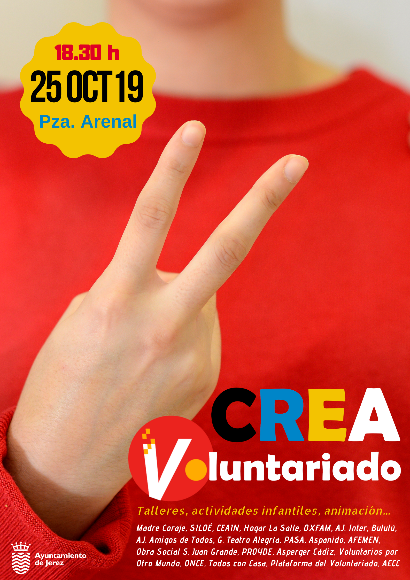Cartel Crea Voluntariado 2019