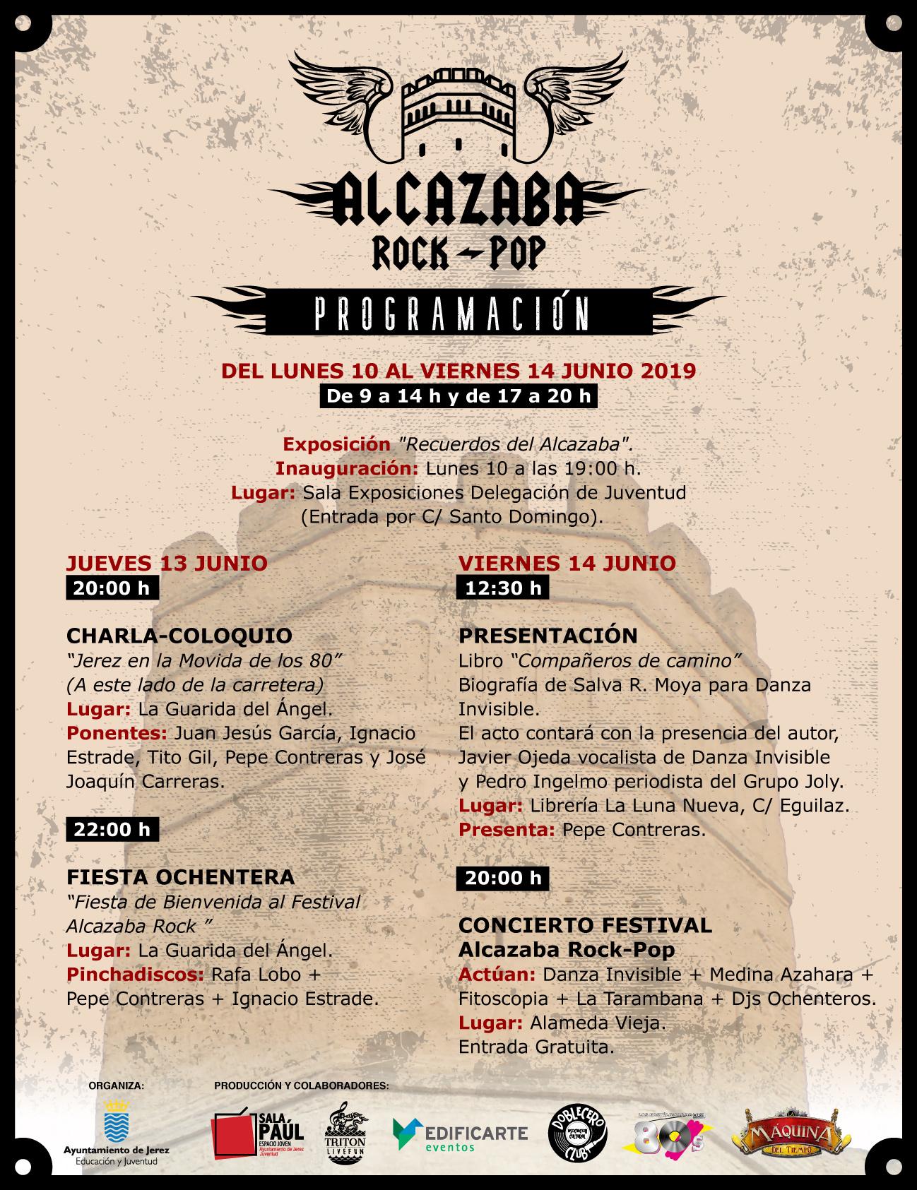 Programacion Alcazaba Rock Pop