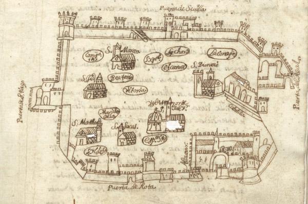 Croquis Jerez Siglo XVII