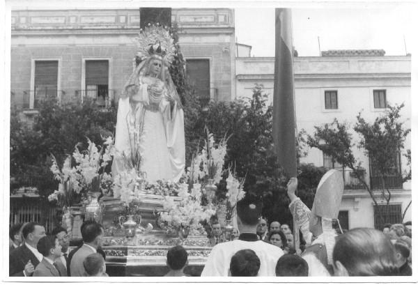 Bendición de la Virgen de La Estrella. Foto: Archivo Hermandad de La Estrella