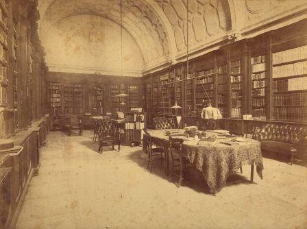 Imagen antigua de la sala de consulta
