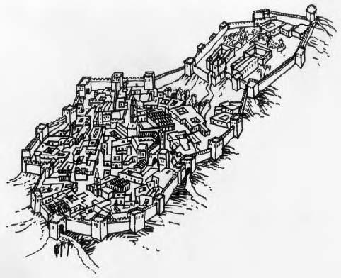 Plano del recinto amurallado