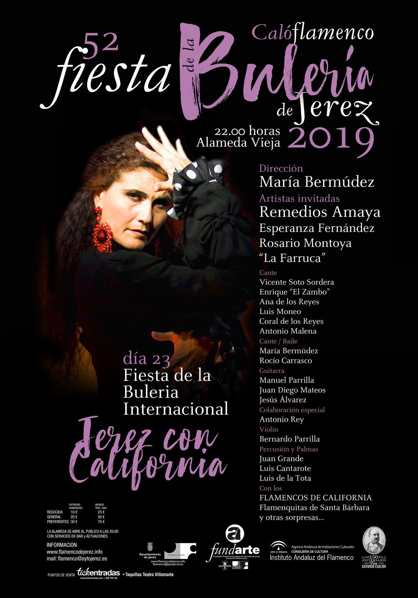 Cartel Jerez con California Fiesta de la Bulería