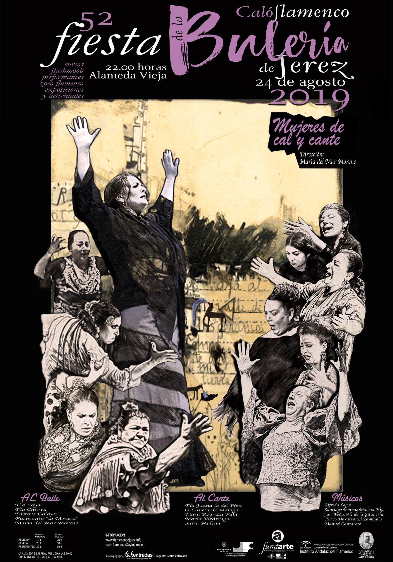 Cartel Mujeres de cal y cante Fiesta de la Bulería