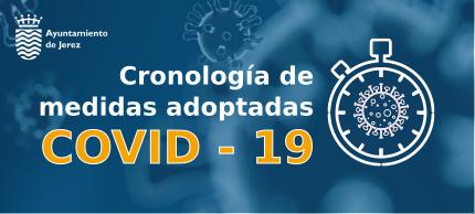 Acceso a la cronología de actuaciones COVID 19