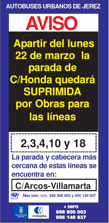 Corte Calle Honda