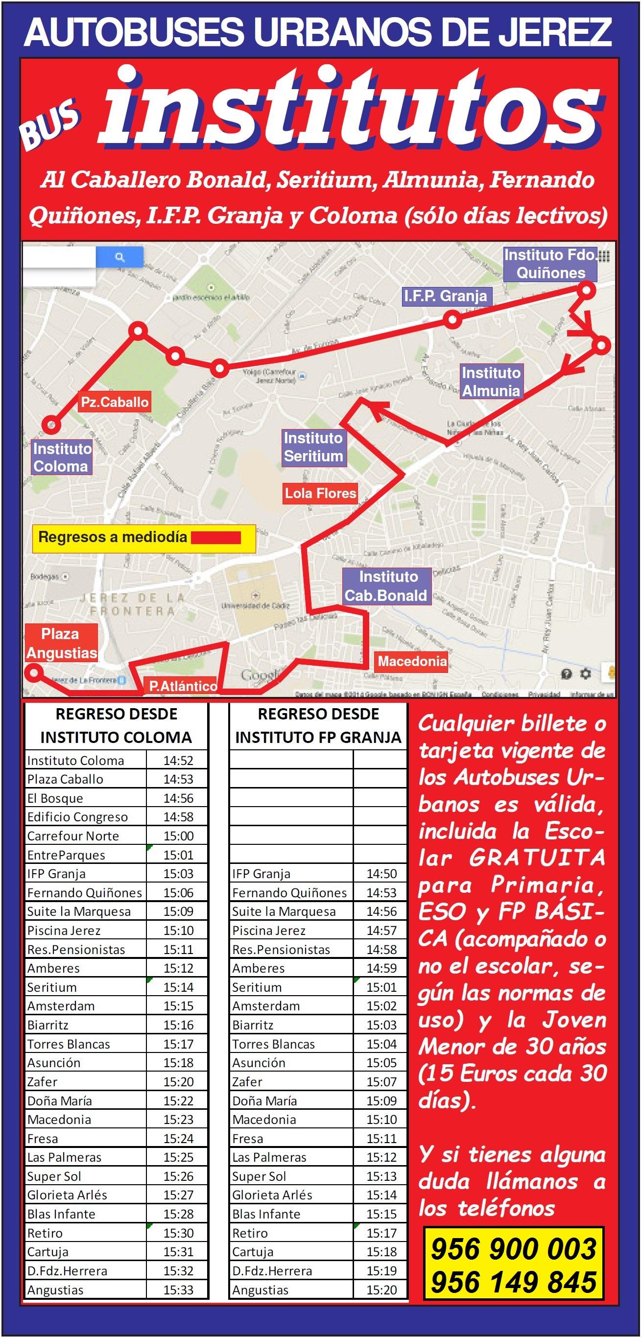Imagen Bus Institutos regreso