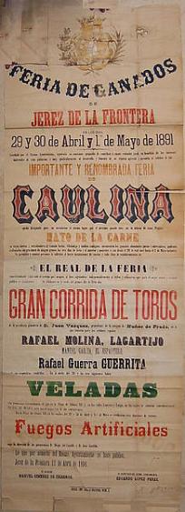 Cartel de 1874 procedente del Archivo Municipal