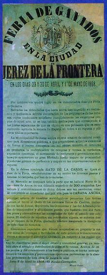 Cartel de 1868 procedente del Archivo Municipal