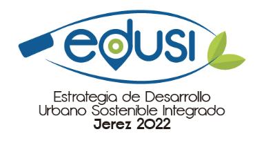 Logotipo EDUSI estrategia de desarrollo