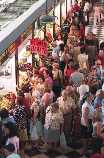 Imagen del mercado central de abastos