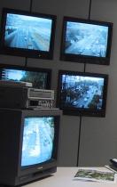Imagen de monitores en la sala de tráfico
