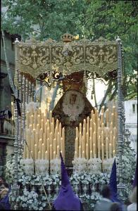 Imagen paso de palio de La Soledad