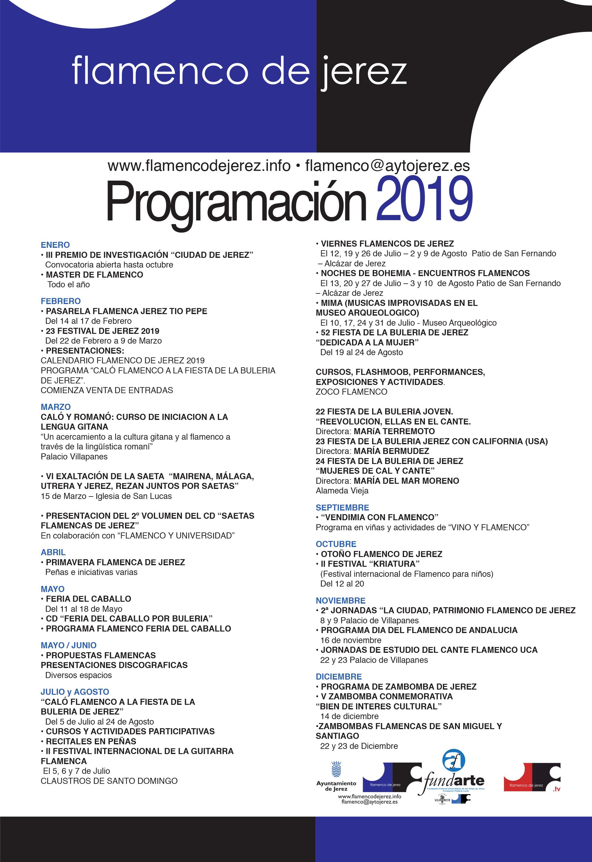 Progrmación Flamenco 2019